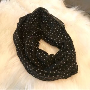 Accessories - Polka dot infinity scarf